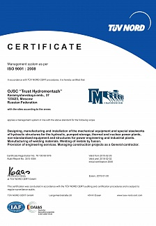 CERTIFICATE Management system as per ISO 9001 : 2008